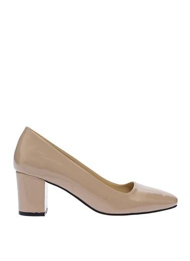 Fabrika Kalın Topuklu Klasik Ayakkabı Vizon